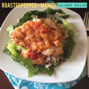 roasted pepper mango salsa salmon