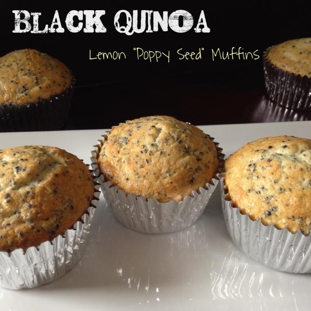 "Black Quinoa Lemon ""Poppy Seed"" Muffins"