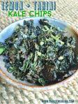 Lemon Tahini Kale chips