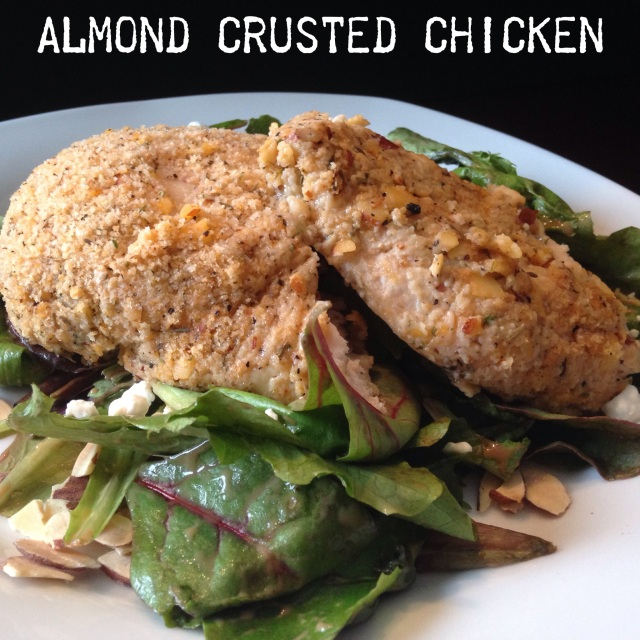Almond Crusted Baked Chicken