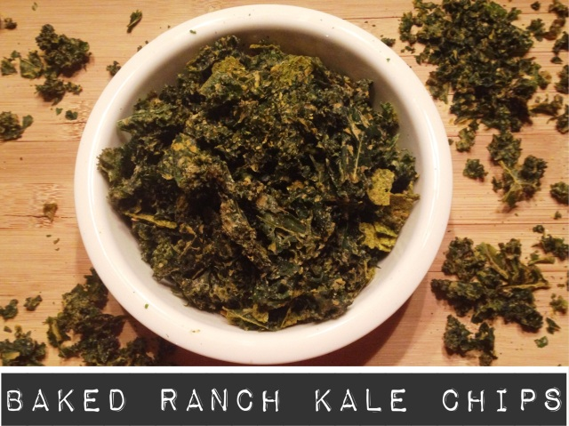 Baked Ranch Kale Chips