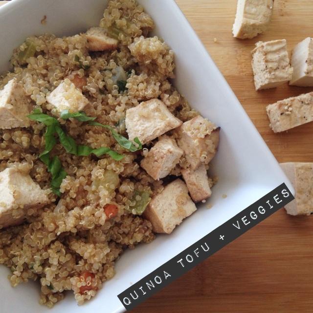 Quinoa Tofu and veggies
