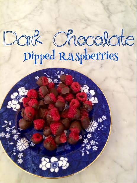 Dark Chocolate Dipped Raspberries