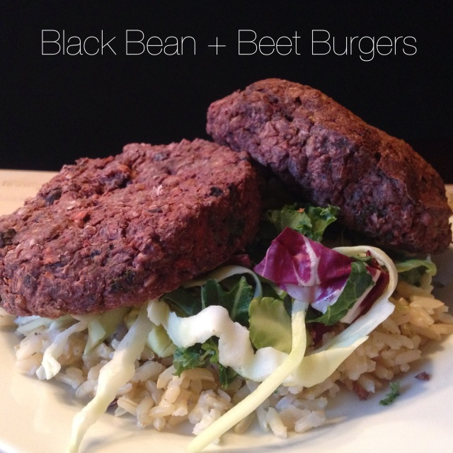 Black Bean + Beet Burgers