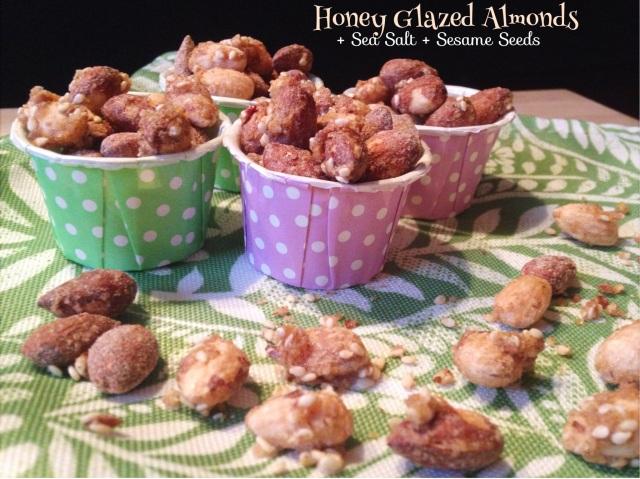 Honey Glazed Nuts + Sea Salt + Sesame Seeds