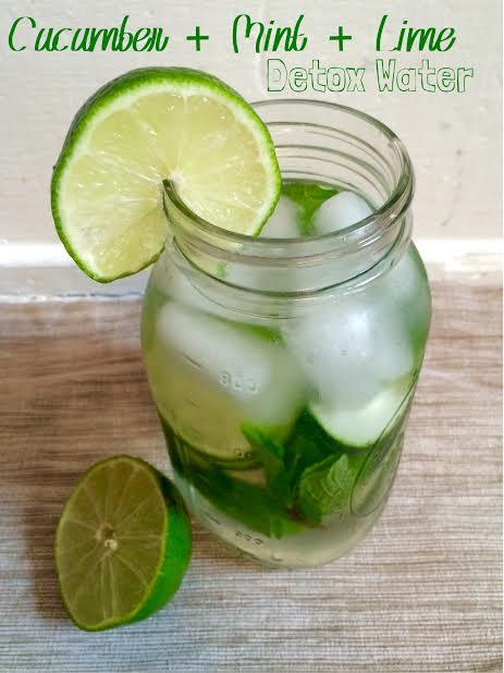 Cucumber + Mint + Lime Detox Water
