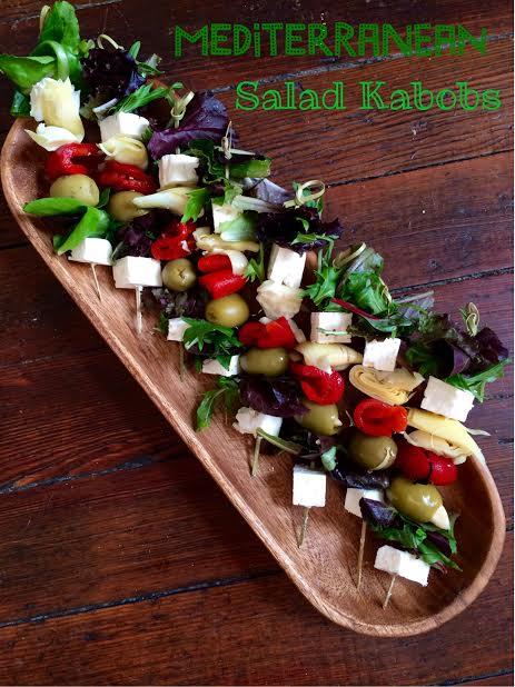 Mediterranean Salad Kabobs