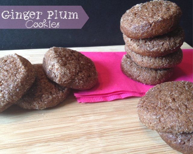 Ginger Plum Cookies